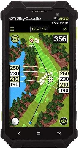 SkyCaddie SX500, Handheld Golf GPS, Black