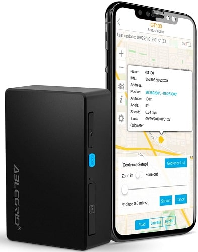 ABLEGRID GPS Tracker for Vehicles 4G Real-Time